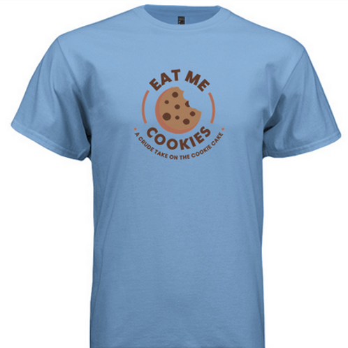 Carolina Blue 'Eat Me Cookies' T-Shirt