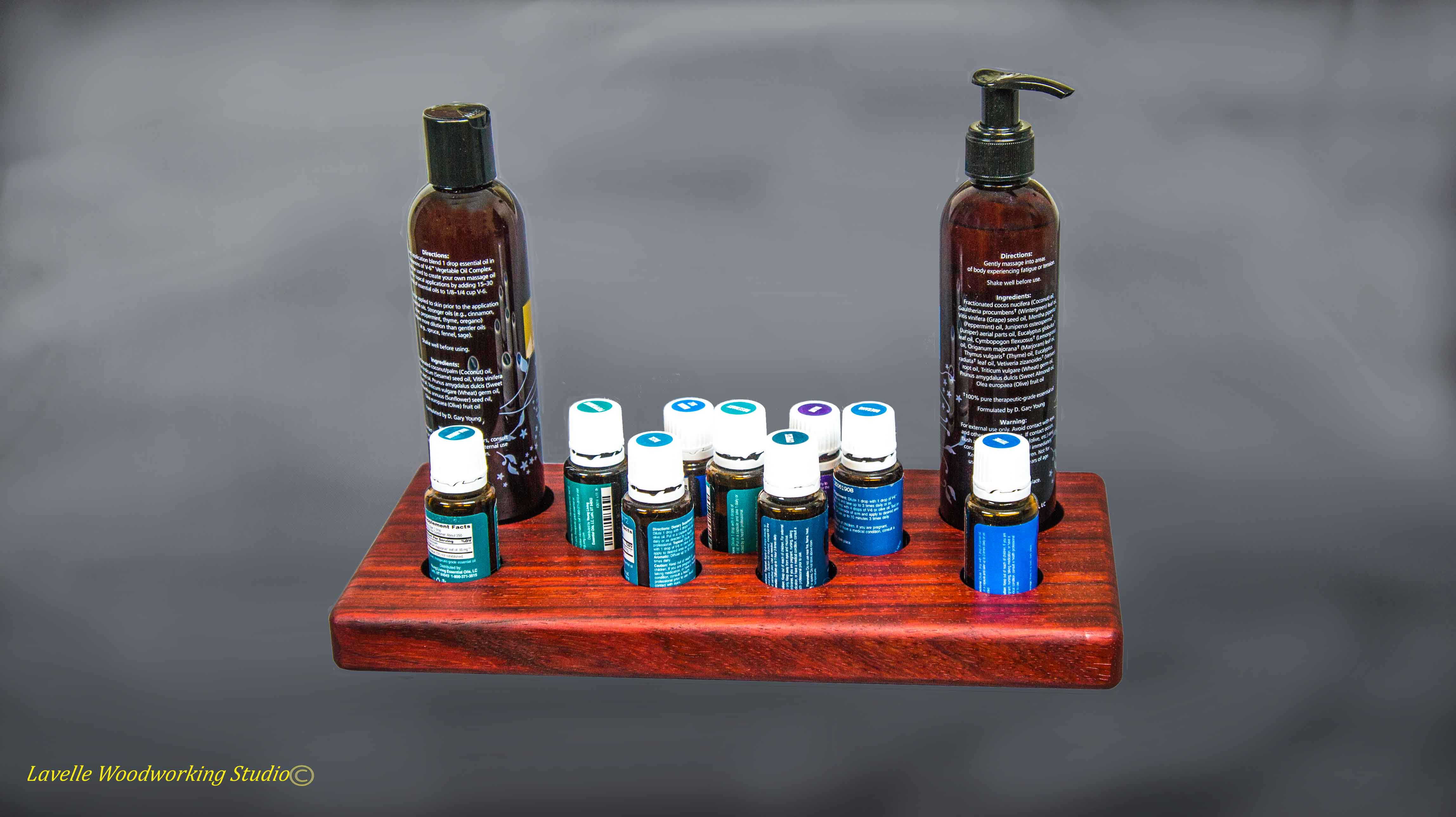 Rain Drop Oil Display Case With Oils