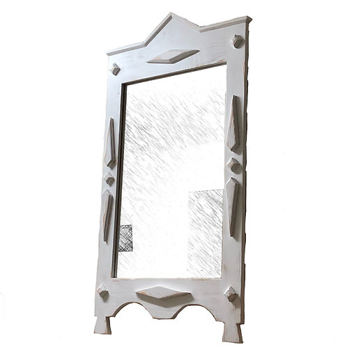 Mirror with the wooden frame