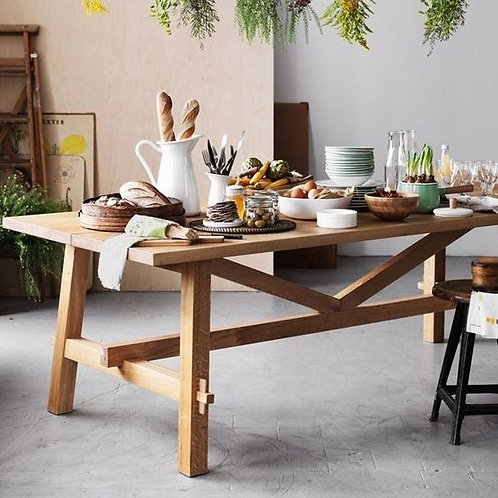 Oak table for kitchen