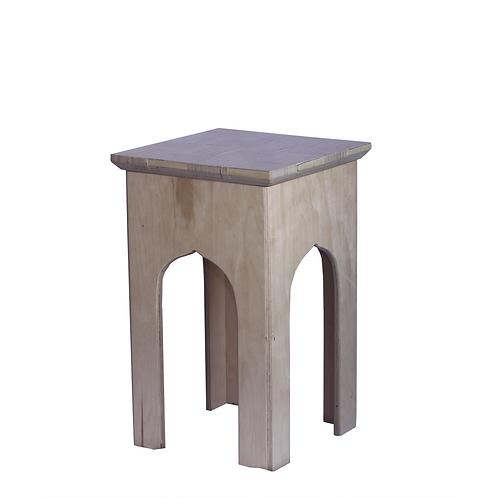 Side table from birch sandwich
