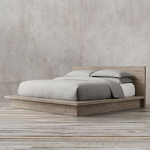 Bed from old solid wood