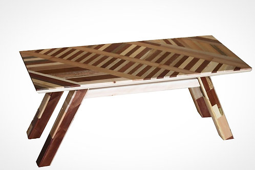 Coffee table from collecting boards