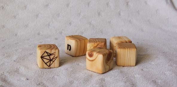 cubes woodenheart