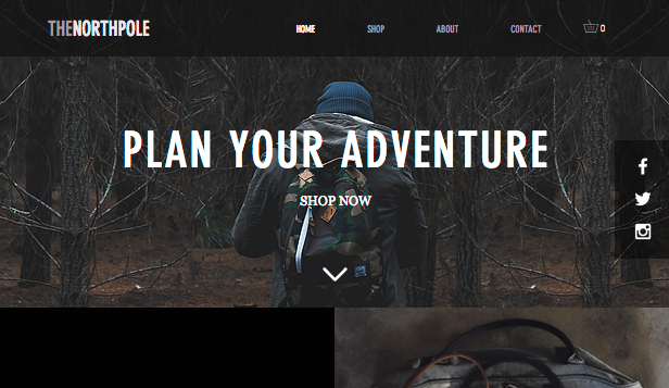 Online Store website templates – Outdoor Bags