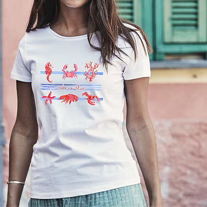 T-shirt donna Rossi nel blu