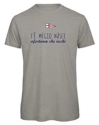 """T-shirt uomo """"Meglio nascere fortunati che ricchi"""""""