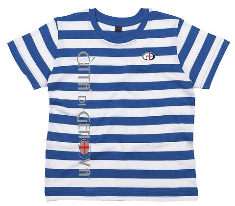 T-shirt bambino righe Città di Genova sportswear