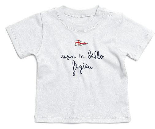 "T-shirt baby ""Sono un bel bambino"""