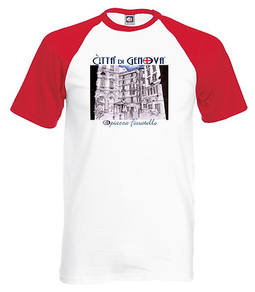 T-shirt Piazza Fossatello Città di Genova handmade