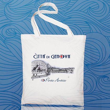 Shopper Porto Antico Città di Genova handmade