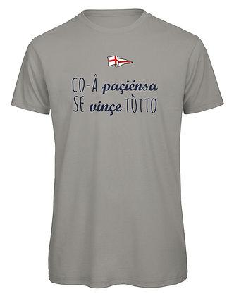 """T-shirt uomo """"Con la pazienza si vince tutto"""""""