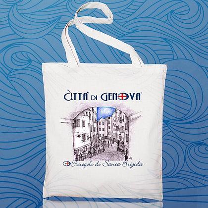 Shopper Santa Brigida Città di Genova handmade