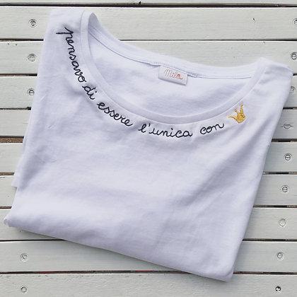 """T-shirt donna Mila """"Pensavo di essere l'unica con corona"""""""