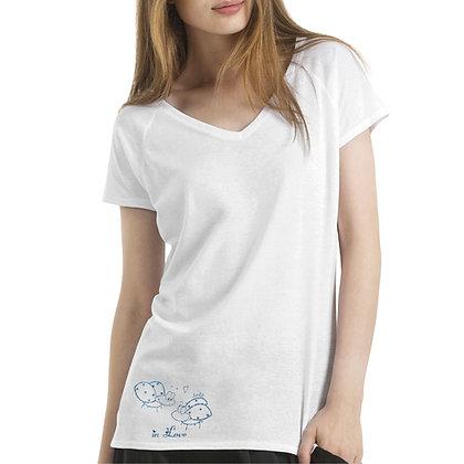 T-shirt a V dedè girls