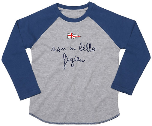"T-shirt bambino manica lunga ""Sono un bel bambino"""