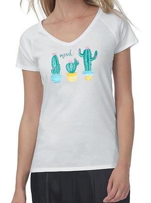 T-shirt donna a V cactus Mood