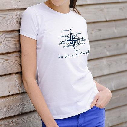 T-shirt donna rosa dei venti