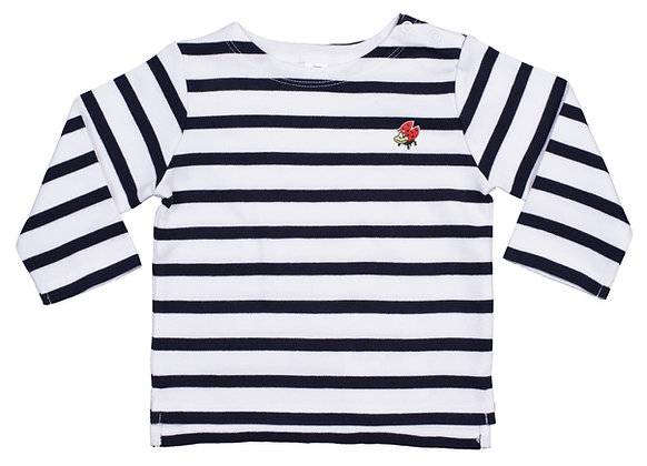 T-shirt righe ml dedè baby in cotone organico