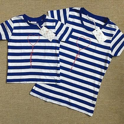 t-shirt matchy matchy ricamo a mano personalizzato