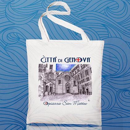 Shopper Piazza S.Matteo Città di Genova handmade