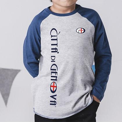T-shirt bambino bicolor Città di Genova sportswear