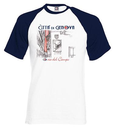 T-shirt  Via del Campo Città di Genova handmade