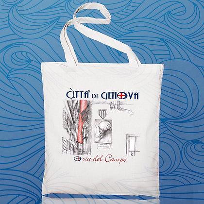 Shopper Via del Campo Città di Genova handmade