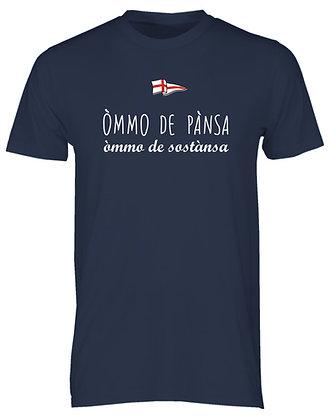 """T-shirt uomo """"Uomo di pancia, uomo di sostanza"""""""