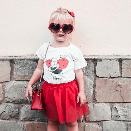 T-shirt bianca slim bambina