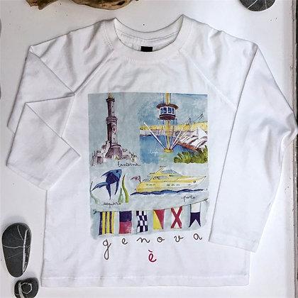 T-shirt bimbi Genova è
