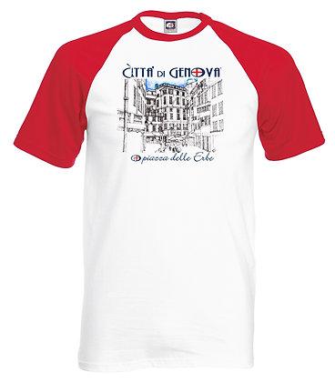 T-shirt Piazza delle Erbe Città di Genova handmade