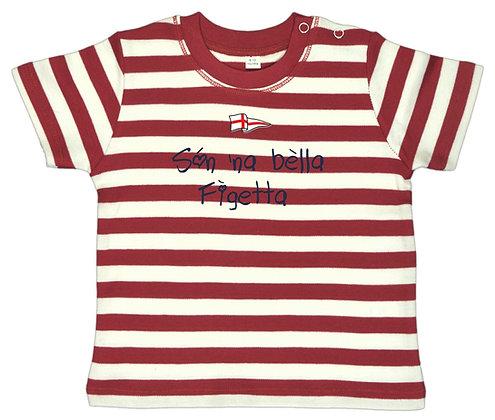 """T-shirt baby righe """"Sono una bella bambina"""""""