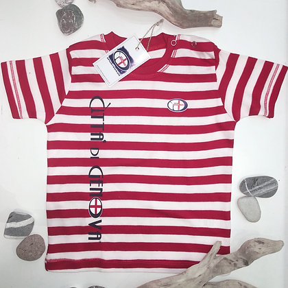 T-shirt baby righe Città di Genova sportswear