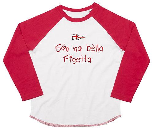 "T-shirt bambina manica lunga ""Sono una bella bambina"""