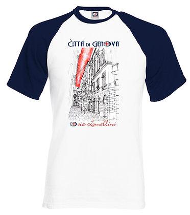 T-shirt Via Lomellini Città di Genova handmade