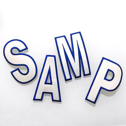 Scritta in panno Samp