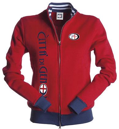 Felpa donna con contrasti Città di Genova sportswear