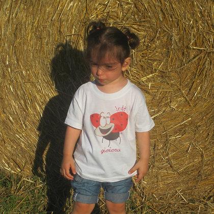T-shirt bambina bianca