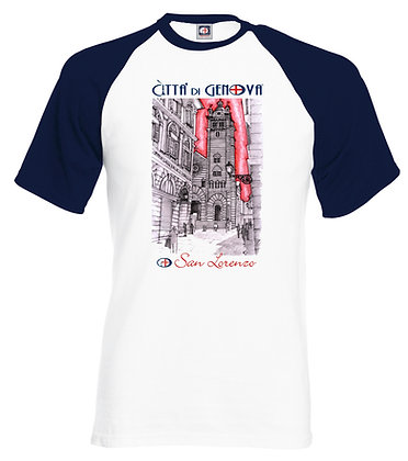 T-shirt  San Lorenzo Città di Genova handmade
