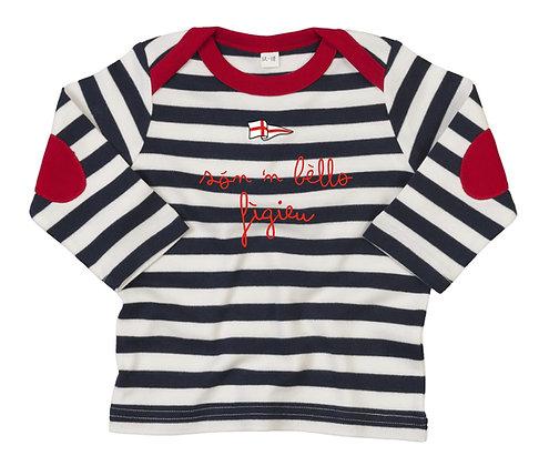 T-shirt baby righe lunga bei bambini (per maschio e femmina)