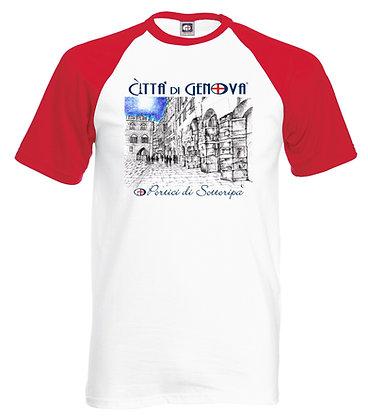 T-shirt Portici di Sottoripa Città di Genova handmade