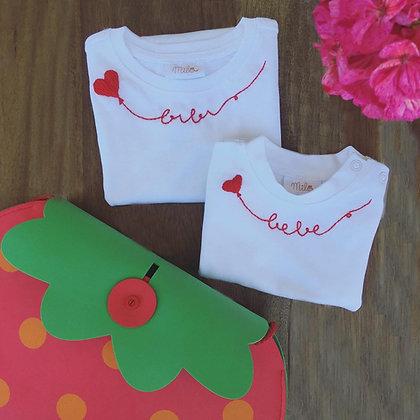 T-shirt bambina Mila palloncino con nome