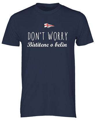 """T-shirt uomo """"Non preoccuparti. Fregatene"""""""