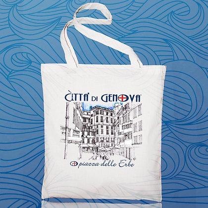 Shopper Piazza delle Erbe Città di Genova handmade