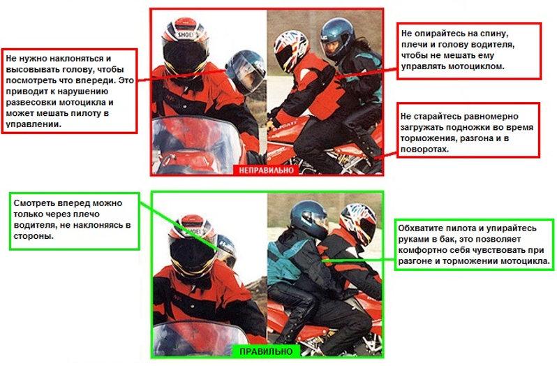 Инструктаж пассажира мотоцикла. Как сидеть на мотоцикле сзади. Как ездить вдвоем на байке.