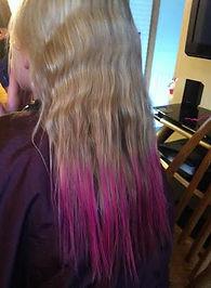 girls, party, hair, makeup, valerie, valerie's mobile hair, color, dye