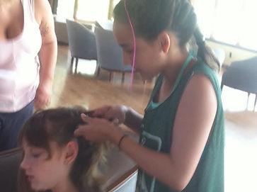 girls, party, hair, makeup, valerie, valerie's mobile hair, braids, braiding