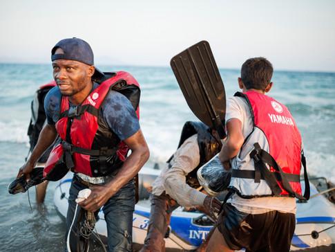 Refugees arrive on Kos