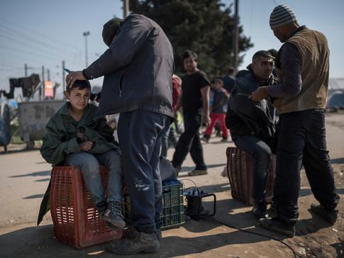 The daily life in Idomeni